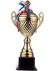 Juvale Siegerpokal - Grote trofee met 38,6 cm hoogte - voor wedstrijden, sporttoernooien, schoolwedstrijden, verjaardagsspelen - Perfect voor kinderen, tieners, volwassenen