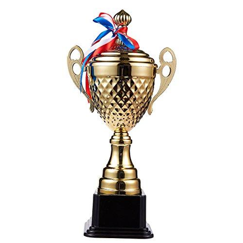 Trofeo–gran taza en forma de trofeo–TROFEO de oro–splarge taza en forma de trofeo–TROFEO de oro para competiciones de deportes,, Oro, 15,2x 7,5x 3,7inchesort trofeo, oro, 15,2cm de altura
