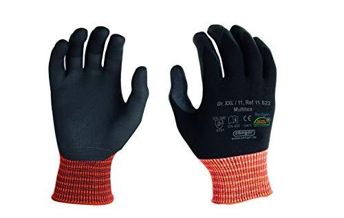 12 Paar Sänger Sicherheitshandschuh Multitex Nylon/Elastan Strick Handschuh Größe XL (10)