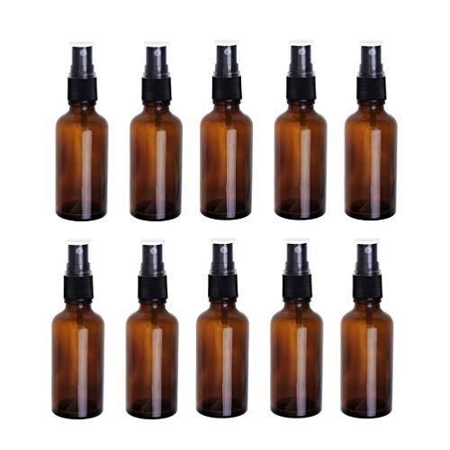Beaupretty 10Pcs Flacons de Pulvérisation en Verre Ambre Vide Petite Bouteille de Pulvérisation de Brume Fine pour Les Huiles Essentielles Parfums Pro