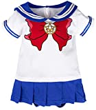 Bebkuebe Baby Girls' Sailor Moon Bodysuit Short Sleeve Dress (Blue, 9-12 Months)