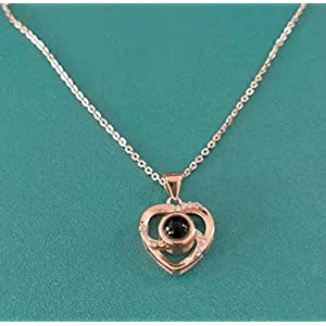 clear gold rose gift box with necklace beautiful foil rose women necklace inside, enchanted foil rose flower for valentine's day anniversary wedding romantic gifts for her. (clear golden wiht pink center) silk flower arrangements
