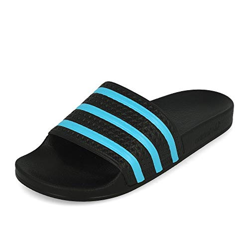 adidas Mens Adilette Sandal, Schwarz (Core Black/Blue Glow/Core Black), 44.5 EU/10 UK