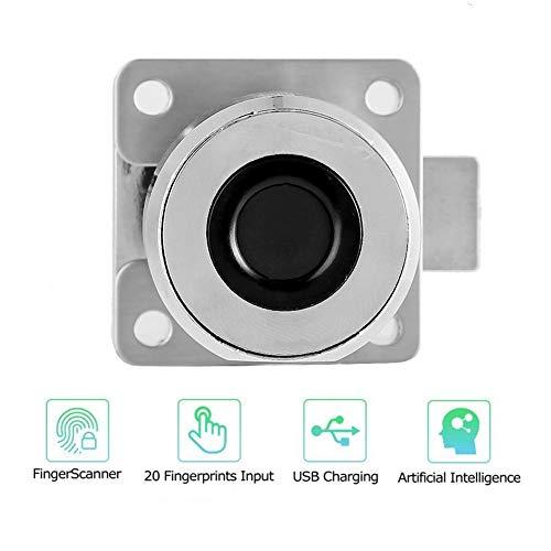Intelligent deurslot met vingerafdruk, draagbaar USB-sleutelloos slot, intelligente biometrische vingerafdruk voor kasten, laden, schoenenkasten, kantoorkasten.