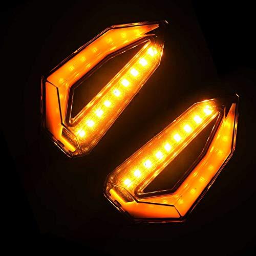 Fpm Cola luz de Freno LED Par Motocicleta LED Luces de señal Luces de señal Lámpara ámbar Izquierda Indicadores de señales a la Izquierda Parinkers 3 Cables Universal (Color : C)