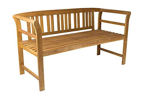 SAM 3-Sitzer Gartenbank Rosa, Akazienholz massiv + geölt, Holzbank für Garten und Balkon, Sitzbank 161 x 63 x 82 cm, pflegeleichtes Unikat