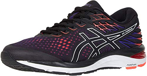 ASICS Men's Gel-Cumulus 21 Running Shoes, 9.5M, Black/Flash Coral