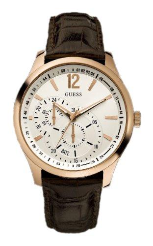 Guess Vessel W95086G2 - Reloj de Caballero de Cuarzo, Correa de Piel Color marrón