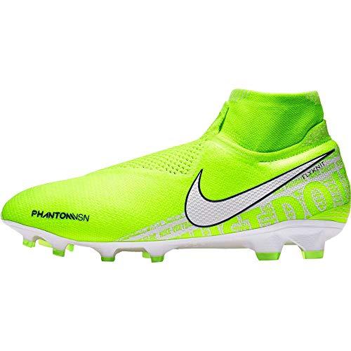 Nike Unisex-Erwachsene Phantom Vsn Elite Df Fg Fußballschuhe, Grün Volt White Barely Volt 717, 39 EU