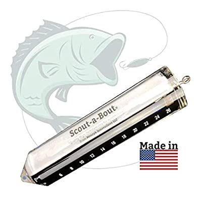 Scout-a-Bout Fish Finder Essential Gear Accessories and Gift Ideas for Men Fishing Thermometer by Monzyk Innovations LLC