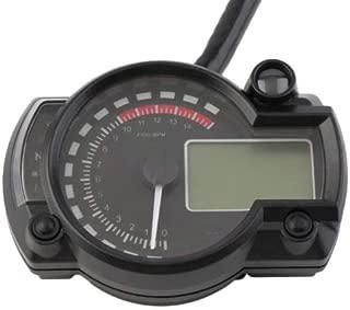Universal 15000 RPM 299 KMH MPH Odometer Speedometer Tachometer Motorcycle 8-22 inch wheel adjust for HONDA,SUZUKI,KAWASAKI,YAMAHA etc. (Black)