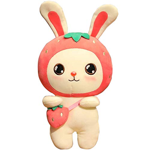 Cute Fruit Bunny Doll Strawberry Rabbit Doll Soft Cushion Pillow Plush Toy Animal Doll Creative Toy for Kids