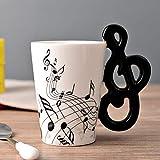 Guitarra Taza de cerámica Taza Personalidad Nota musical Jugo de leche Taza de limón Café Té Taza de bebida caliente Tazas de oficina en casa, Patrón 11, Australia