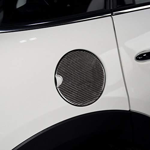 Para BMW Mini JCW R50 R52 R55 R56 R57 R58 R59 R60 R61 F55 F56 Pegatinas de fibra de carbono Motor Fuel Tank Cap Marcos Decoración aceite tapa interior (negro)