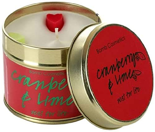 Bomb Cosmetics Duftkerze in Dose, Cranberry and Lime
