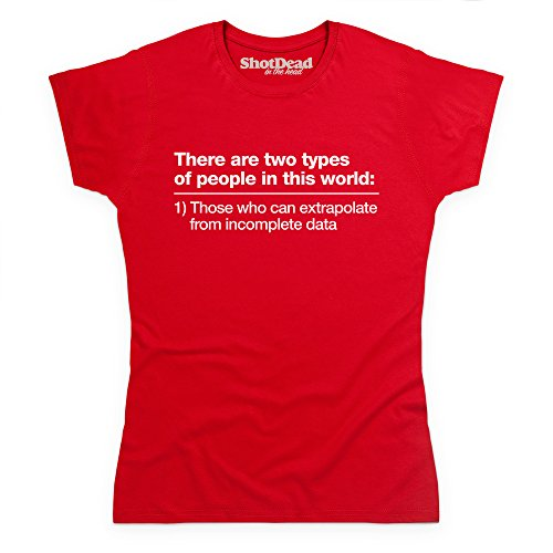 Incomplete Data T-shirt, Donna, Rosso, S