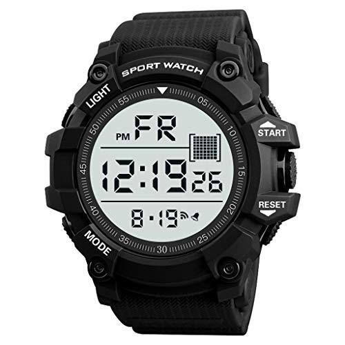 Elektronische Uhr für Männer,Evansamp Mode armbanduhr wasserdicht männer junge lcd digitale stoppuhr datum gummi sportuhr(E)