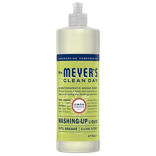 Mrs. Meyers Clean Day Washing Up Liquid, Cruelty Free Formula, Lemon Verbena, 473 ml