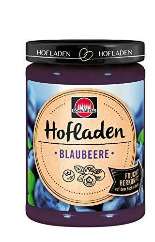 Schwartau Hofladen Blaubeere, Fruchtaufstrich mit Herkunftsfinder, 8er Pack (8 x 200 g), 08980_1