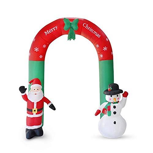 Decorazioni Natalizie Gonfiabili per Esterno - Arco Gonfiabile Babbo Natale E Pupazzo di Neve, Gigante Natalizio Altezza 240 Cm, Decorazione Natalizia da Esterno