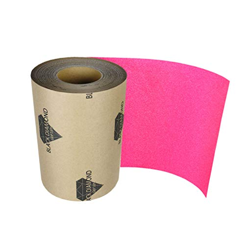 Black Diamond Skateboard Longboard Grip Tape ROLL 10 in x 60' Pink Griptape Deck Decks