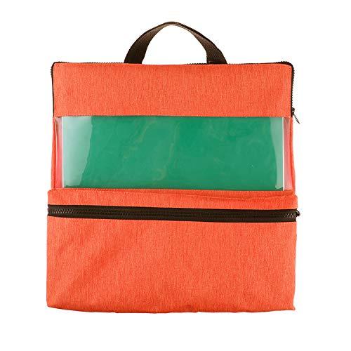 스토리지 가방 지퍼를 가진 및 처리를 위해 12×12 비닐 시트와 도구-13.2X13.2 인치 비닐 종이 주최자 오렌지