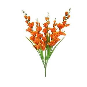 GF Artificial Silk Flowers Gladiolus Bush 26″ Bouquet Orange Color MG019