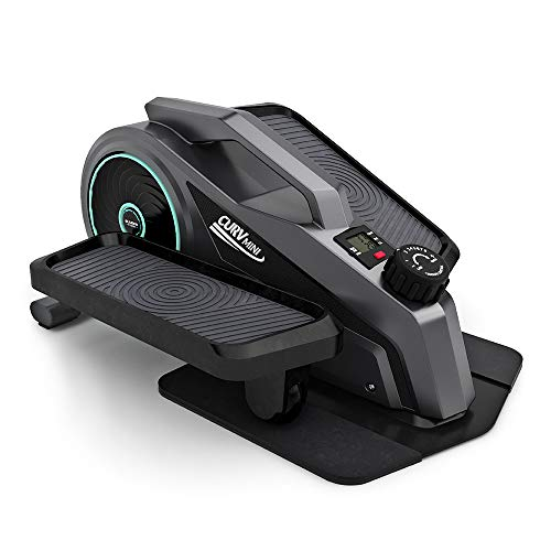 Bluefin Fitness Curv Mini | Under-Desk-Crosstrainer | Pedal-Trainingsgerät für Zuhause | Einstellbarer Widerstand | Leiser Schwungradmotor | LCD-Bildschirm | Bluetooth | FitShow App-kompatibel