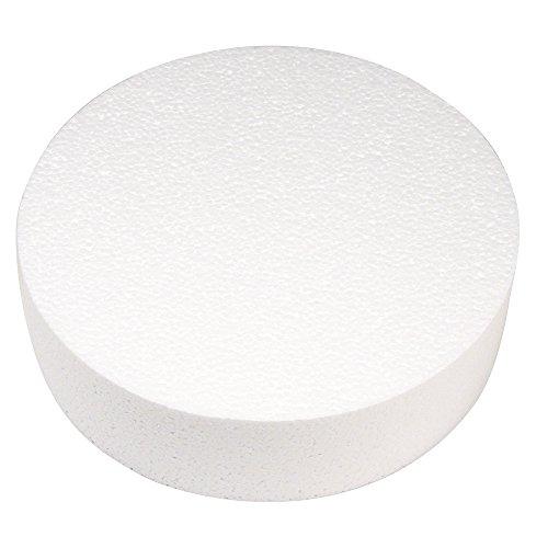 RAYHER - Disco de Espuma de poliestireno, diámetro: 25cm, Altura: 7cm, Ideal como Soporte/Accesorio para Cake Pops