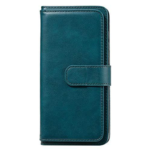 Lomogo Xiaomi Redmi Note 9 / 10X 4G Hülle Leder, Schutzhülle Brieftasche mit Kartenfach Klappbar Magnetisch Stoßfest Handyhülle Case für Xiaomi Redmi Note9/10X 4G - LOKTU150335 Grün