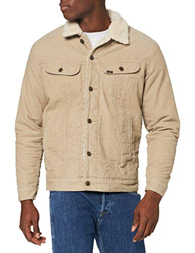Lee Sherpa Jacket Giacca di Jeans, Beige, 3XL Uomo