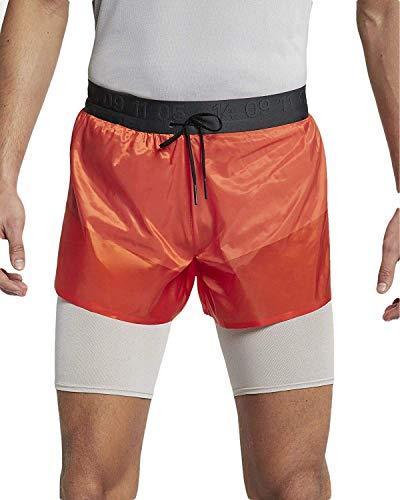 Nike Tech Pack AQ6442-891 - Pantalones cortos de correr para hombre (talla M, color naranja/luna/antracita)