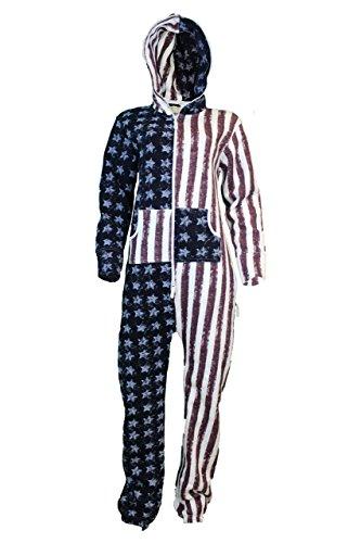 Fashion Oasis Unisex para Hombre de Forro Polar Trajes de baño de Mujer Mamelucos músculos de la Bandera de EE.UU, diseño de Natashia Lunt, diseño de Cuadros de Color Rojo diseño de impresión