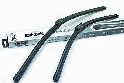 phil trade 2 x Flex Scheibenwischer kompatibel für BMW E39 und Peugeot 607