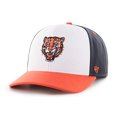 47 Brand Forty Seven Detroit Tigers Cooperstown Logo MVP DP Curved Visor Snapback Cap Limited Edition MLB