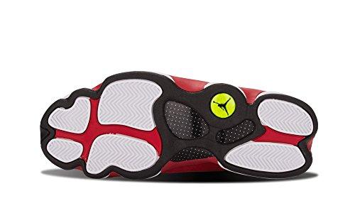Nike Air Jordan 13 Retro, Zapatillas de Deporte Hombre, Blanco/Negro/Rojo/Gris (White/Black-True Red-Cmnt Grey), 40