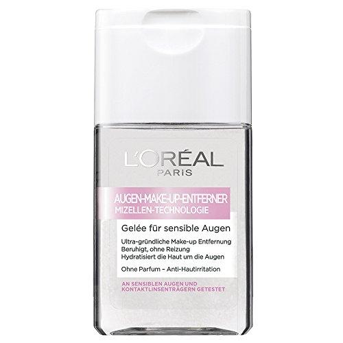 L'Oréal Paris Augen Make Up Entferner, Reinigungsgel mit Mizellen Technologie - ultra gründlich - zum sanften Abschminken für sensible Augen, 1er Pack (1 x 125 ml)