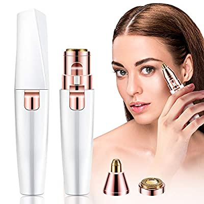 Eyebrow Hair Remover,2 in 1 Eyebrow Trimmer Painless,Rechargeable Facial Hair Trimmer, Flawless & Effective Eyebrow Shaper,Eyebrow Razors Tool for Face Lips Nose Facial Hair Removal for Men Women by La'prado
