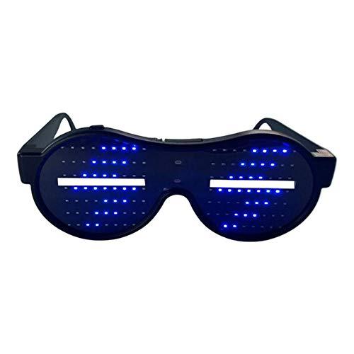 Sliveal LED Leuchtende Gläser LED Leuchtet Brille Animation Muster Shutter Brille Party Supplies Für Party Nightclub KTV masterly