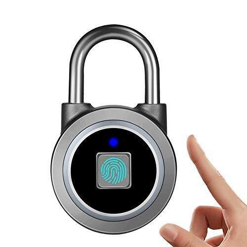 ZPWSNH Smart Fingerprint Bluetooth Lock, Draagbaar Keyless Vingerafdruk hangslot, Veilig Biometrisch Lock Vingerafdrukhangslot