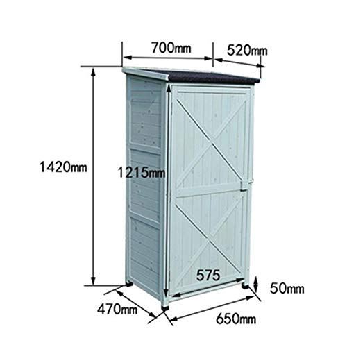 410pfLb4Q6L - Zengqhui Outdoor-Holzwerkzeugschrank Lagerhalle 3-Tier Abnehmbarer Regal for Balkon Garten Terrasse Ideale Aufbewahrungsbox für den Außenbereich (Farbe : Grün, Size : Full-Layer Board.)