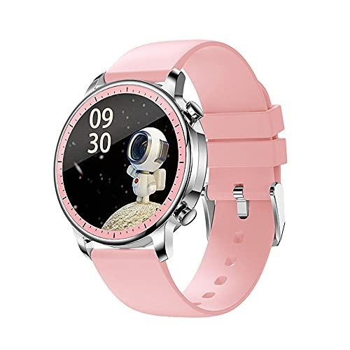 DADAS Smart Watch Men's y Women's Watch 1.28 Pulgadas Pantalla táctil Watch Smart Watch Monitor de frecuencia cardíaca, rastreador de Actividades del podómetro,Rosado