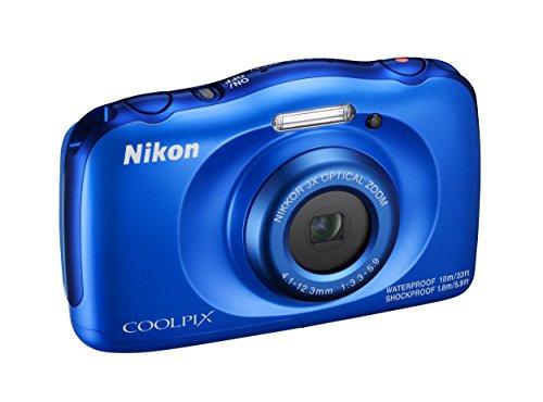 Nikon Coolpix W100 Fotocamera Digitale Compatta, 13,2 Megapixel, LCD 3', Full HD, Blue [Nital Card: 4 Anni di Garanzia]
