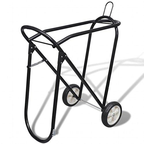 Sattelhalter Sattelwagen Sattelcarry Sattelcaddy Sattelablage-Rollwagen | zusammenklappbar | mit Rädern Sattelständer Sattelhalterung |Trolley fahrbar | Stallcarry | Sattelboy | Sattel Trolley