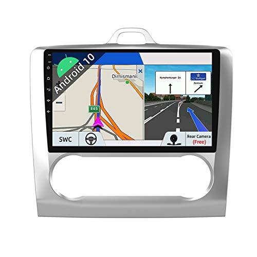 JOYX Android 10 Autoradio Passt für Ford Focus (2004-2011) - [2G+32G] - Rückfahrkamera Canbus KOSTENLOS - - IPS 9 Zoll 2 Din - Unterstützen DAB Lenkradsteuerung 4G WiFi Bluetooth Carplay Split-Screen