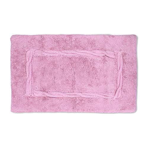 Homevibes Alfombrilla De Baño Crochet Alfombra De Baño Antideslizante Lavable 100% Algodón 50x80cm Absorbente (Natural)