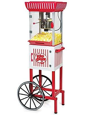 Nostalgia PC25RW 10-Cup Popcorn Cart 48-Inch