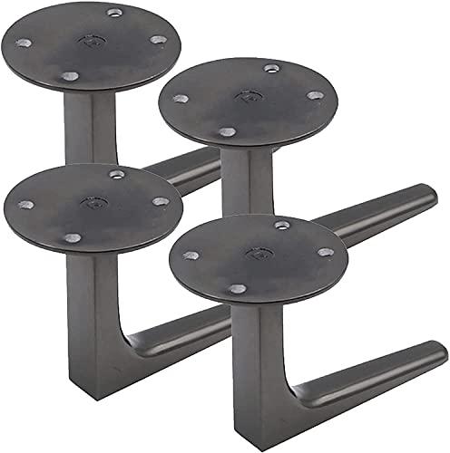 JINCA Conjunto de 4 patas de muebles, piernas de sofá de aleación de aluminio, pies de repuesto, patas de escritorio de computadora, pies de gabinete de muebles, para gabinete.