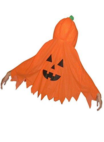 Jo02A citrouille Halloween Costume Cape Cape Costume d'Halloween adolescents et les adultes costume horreur, taille 140 - M
