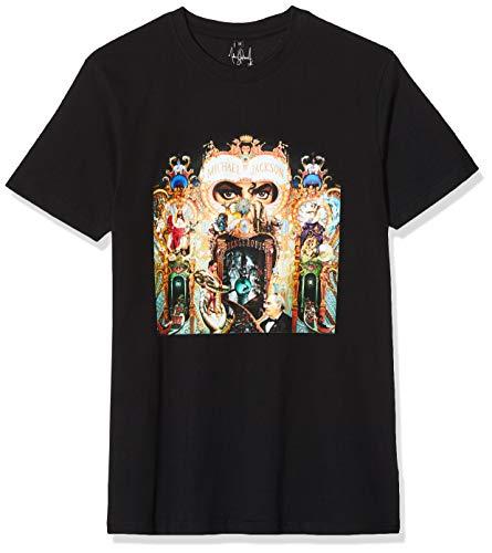 MERCHCODE Herren Michael Jackson Dangerous Tee T-Shirt, Black, L